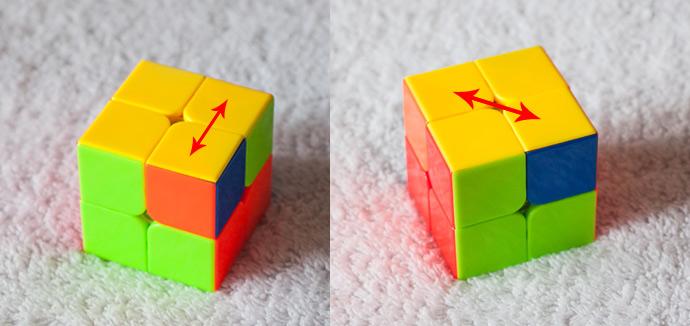3-й этап сборки кубика Рубика 2х2