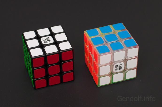 Черный и прозначный кубики YongJun Sulong