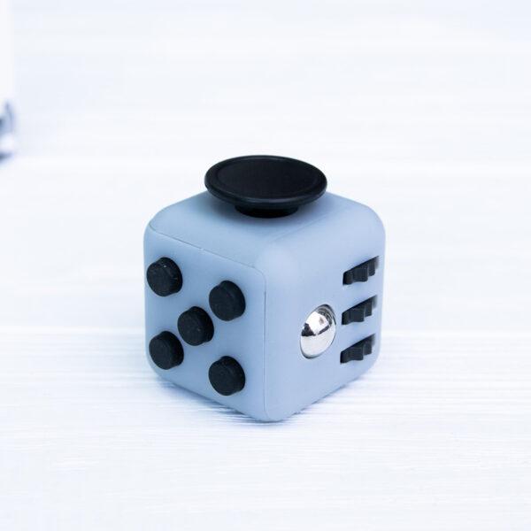 Антистресс кубик серый + черный