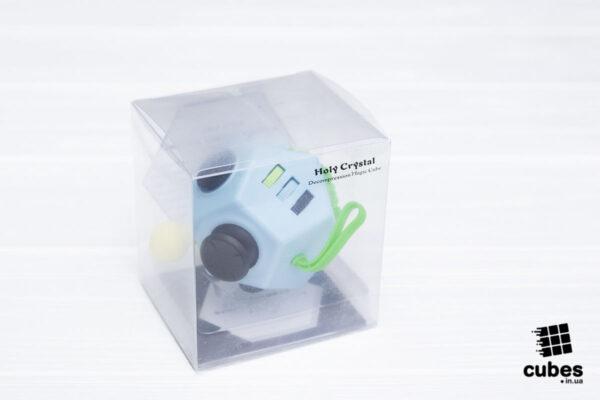 Fidget куб v2 (большой) голубой 12 сторон