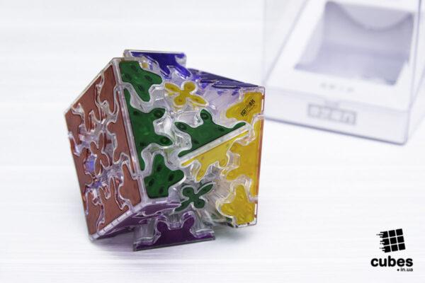 Шестеренчатый кубик QiYi Gear 3х3 прозрачный