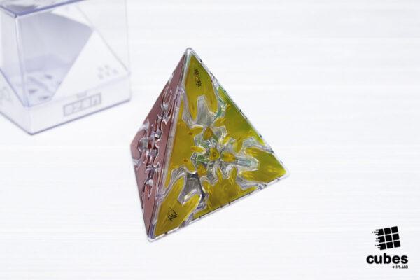 Пирамидка QiYi Gear Pyraminx прозрачная