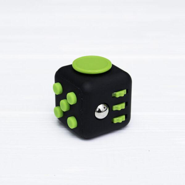 Фиджет куб черный + зеленый