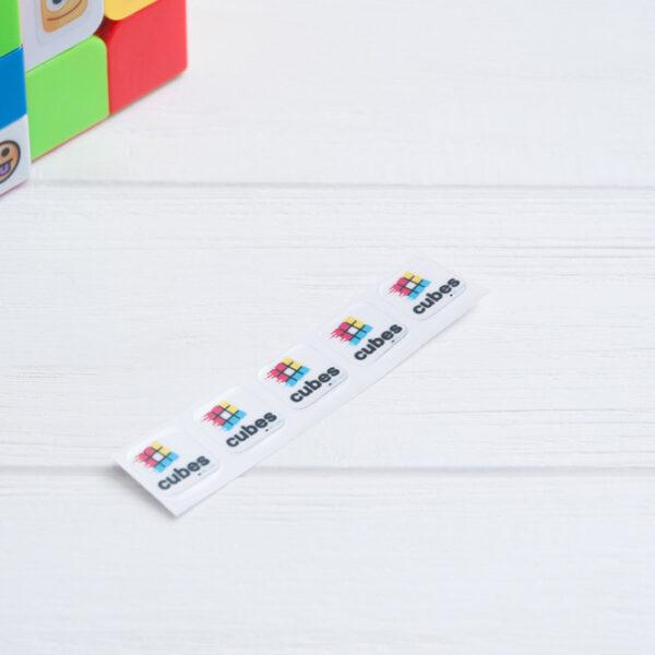 Наклейки с логотипом Cubes.in.ua