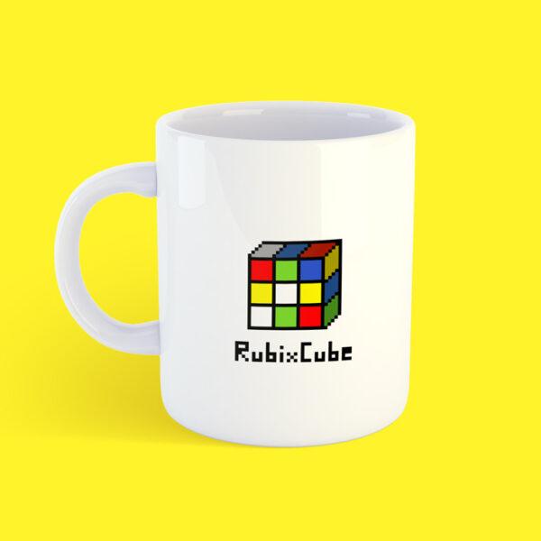 Чашка с кубиком Рубика