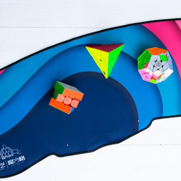 Коврик для спидкубинга QiYi Flying Cup Mat синий