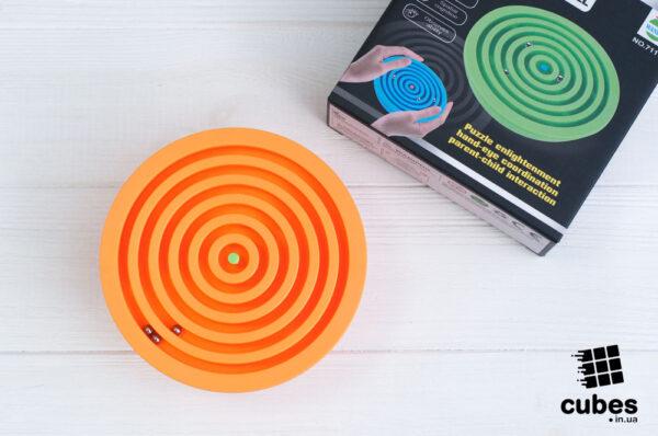 Лабиринт с 3 шариками (оранжевый)