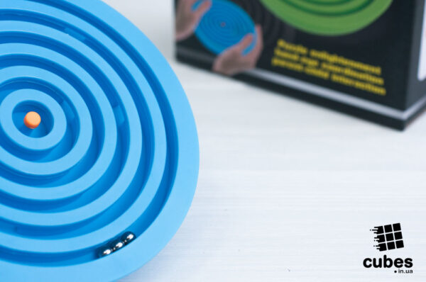 Лабиринт с 3 шариками (синий)