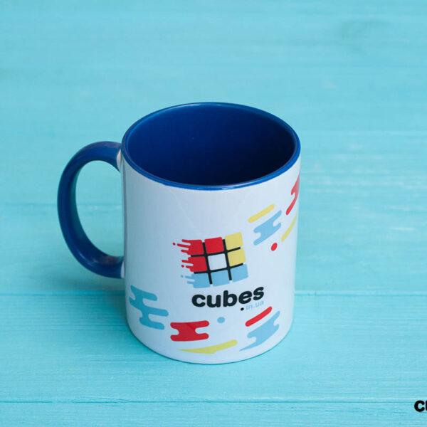 Чашка CUBES.IN.UA (синяя)