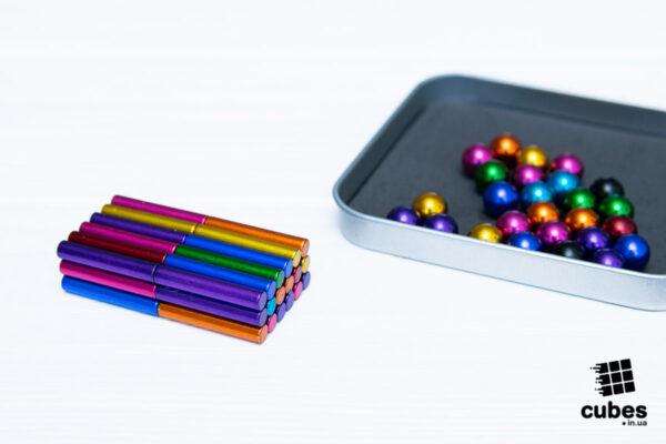 Магнитный конструктор цветной