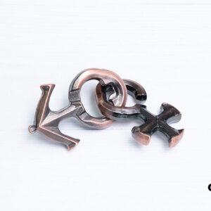 Металлическая головоломка «Love lock 2»