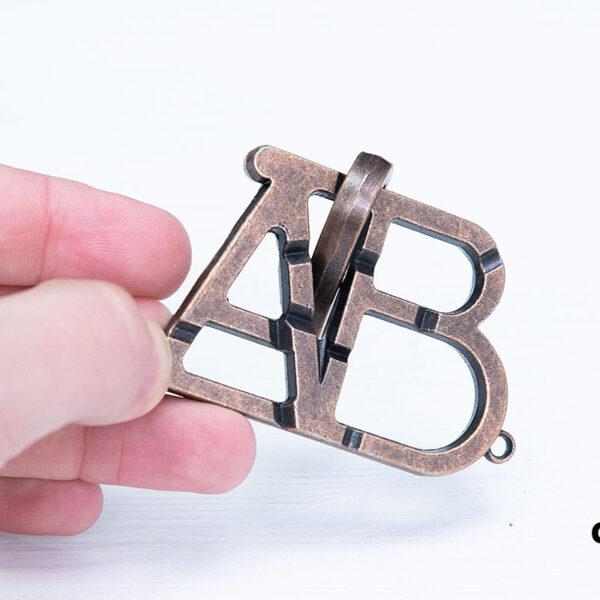 Металлическая головоломка «ABC»
