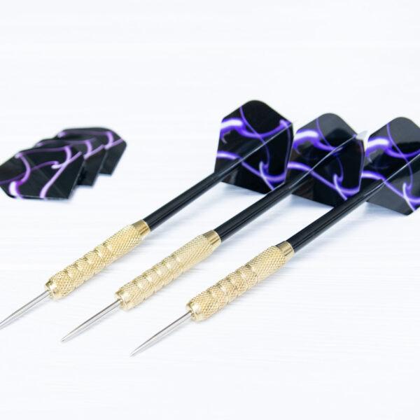 Дротики «Purple smoke» (пластик) 3 шт. (+3 оперения)