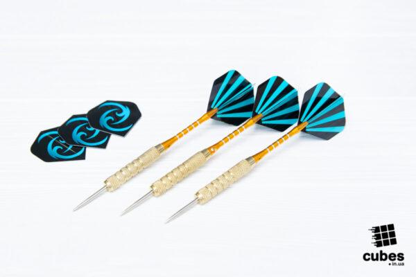 Дротики «Blue strips» (металл) 3 шт. (+3 оперения)