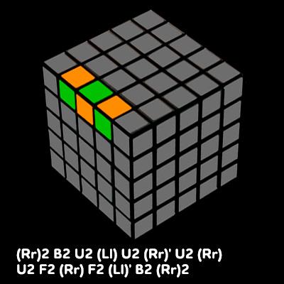 Зображення 4. Складання двох останніх ребер в 5х5, формула паритету ребра.