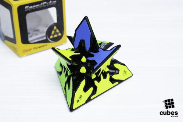 Пирамидка QiYi Gear Pyraminx без наклеек