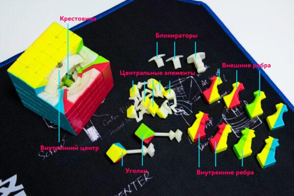 Ремонтируем или разбираем кубик Рубика 6х6 механически