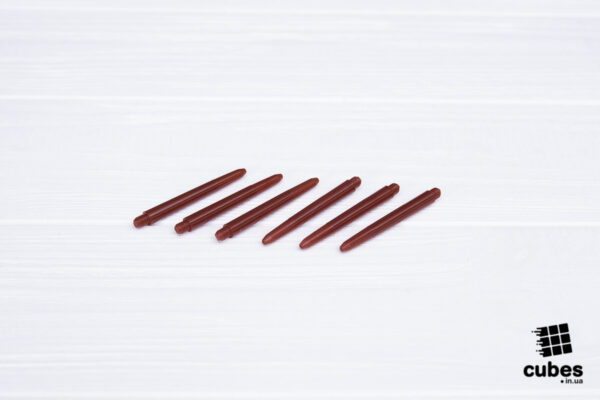 Хвостовик бордовый пластиковый 48 мм. (6 шт.)