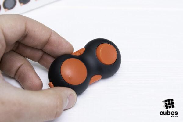 Fidget Pad (джойстик) черный + красный (soft touch пластик)