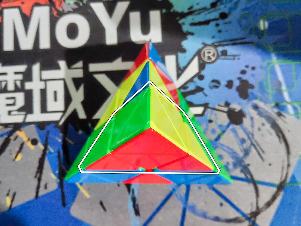 Этап 1. Собираем блок (на фото пример блока зелено-желто-синий).