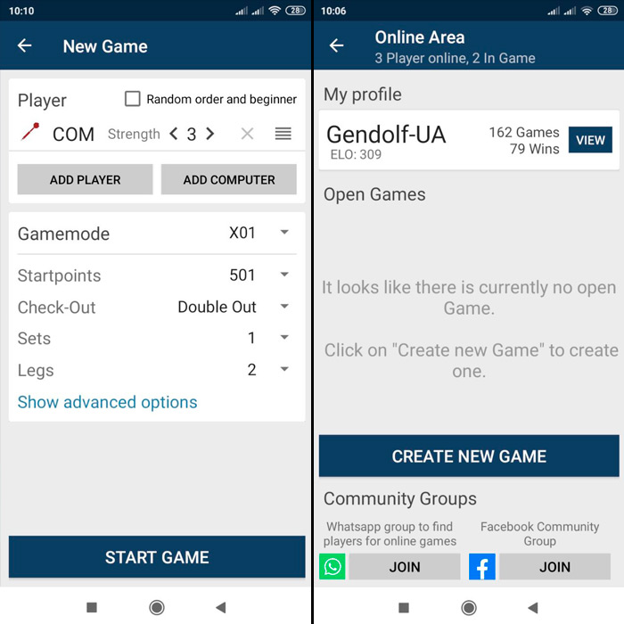 Приложение для дартс онлайн - Pro Darts