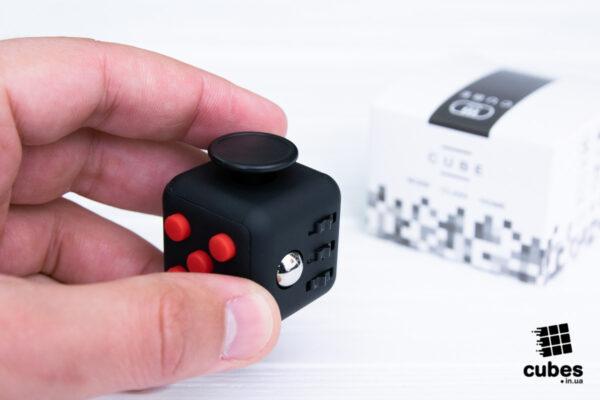 Антистресс (fidget) куб черный