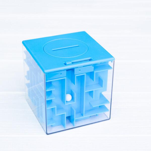 Копилка-лабиринт (синяя)