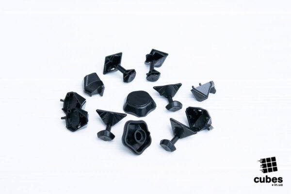 Черные крышки для мегаминкса Yuhu v2 M