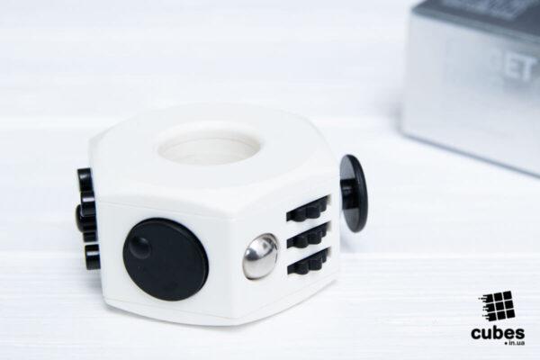 Кольцо антистресс (Fidget Ring) белый+черный