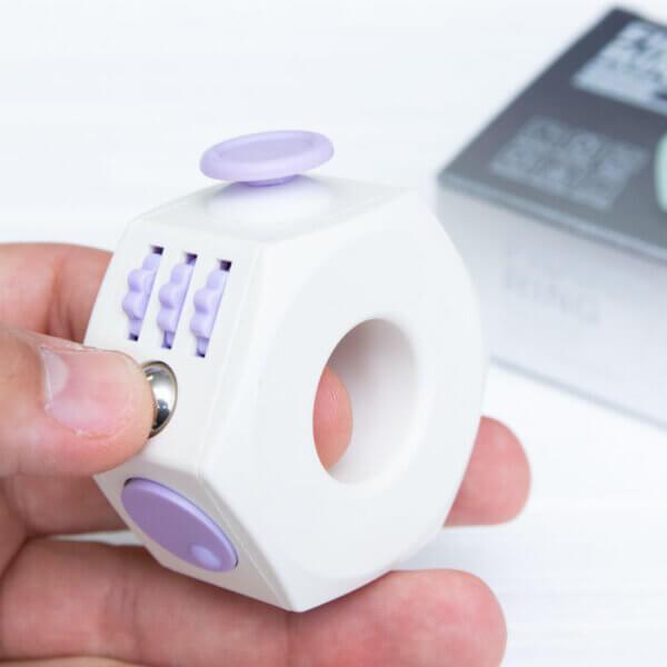 Кільце антистрес (Fidget Ring) білий+рожевий