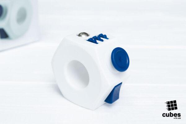 Кольцо антистресс (Fidget Ring) белый+синий