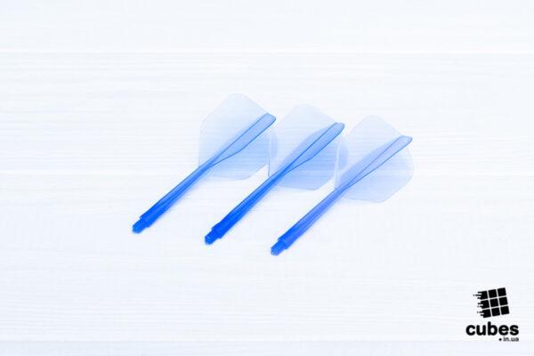 Цельный хвостовик с оперением синий (3 шт)