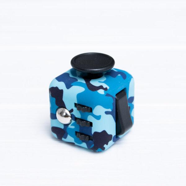 Антистрес кубик Fidget куб камуфляж синій