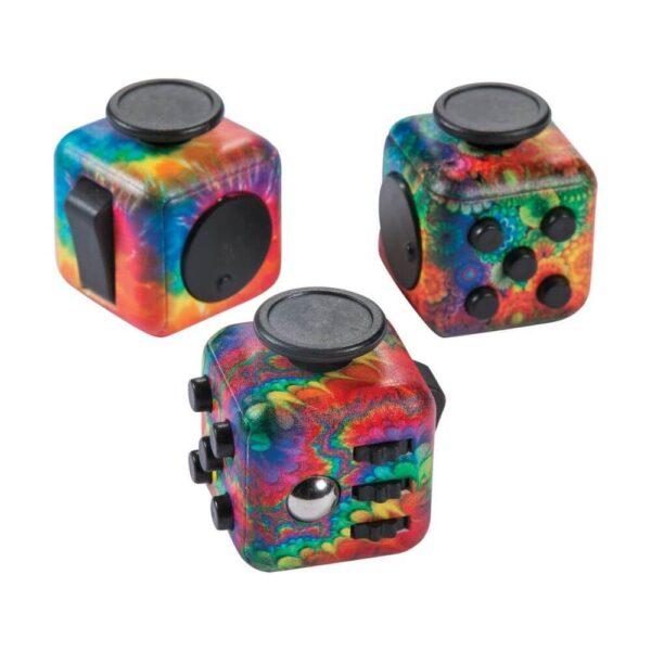 Антистресс кубик радужный