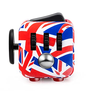 Антистресс куб Fidget cube цвета флага Великобритании