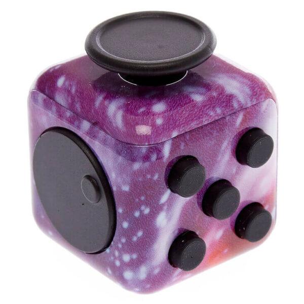 Фиджет куб фиолетовый