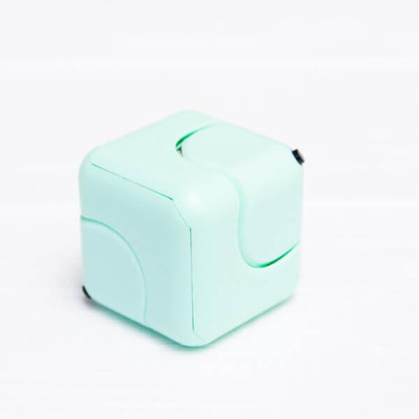 Антистресс кубик-спиннер Gyro Cube голубой