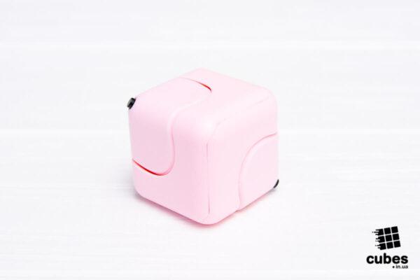 Антистресс кубик-спиннер Gyro Cube розовый
