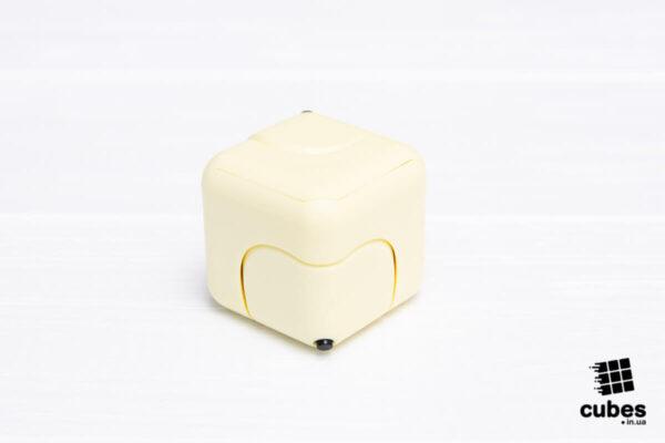 Антистресс кубик-спиннер Gyro Cube желтый