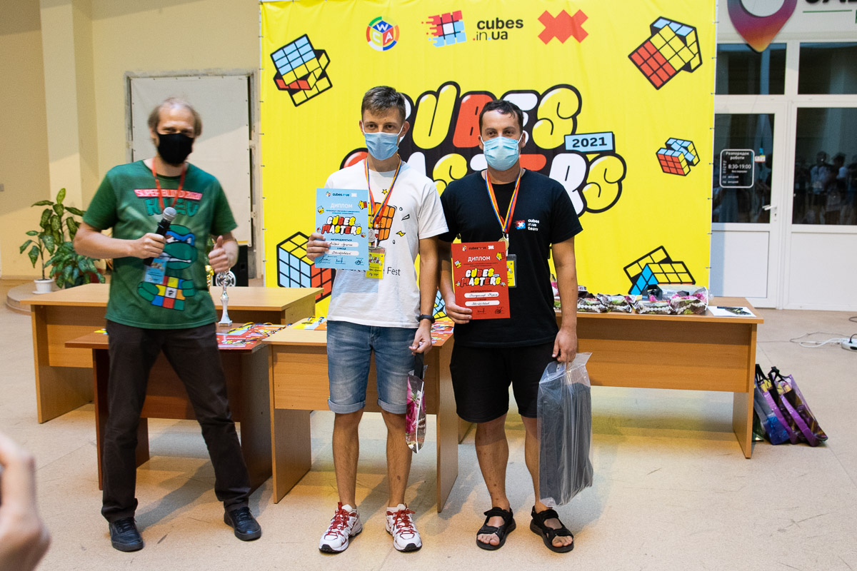 Кубик 3х3 на осліп: переможці.